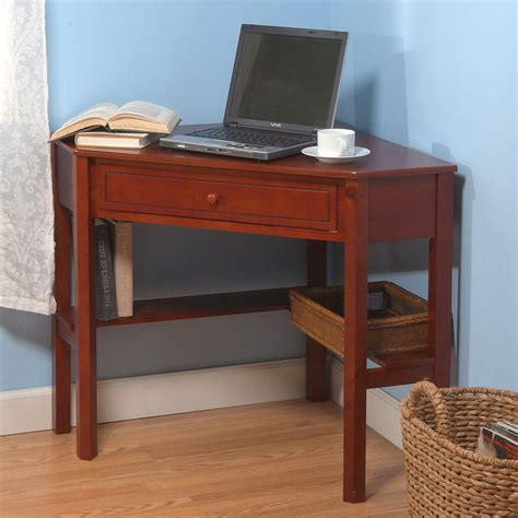 corner cherry desk shop tms furniture cherry corner desk at lowes