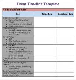 9 event timeline templates free sample example format