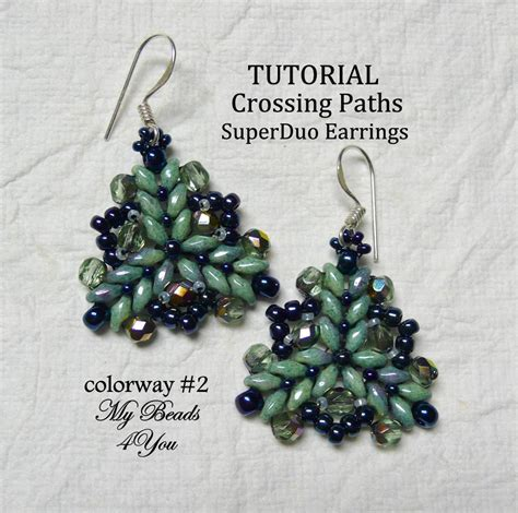 superduo bead patterns superduo crossing by my 4 you jewelry pattern
