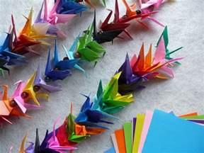 origami chain origami crane chain artclubblog