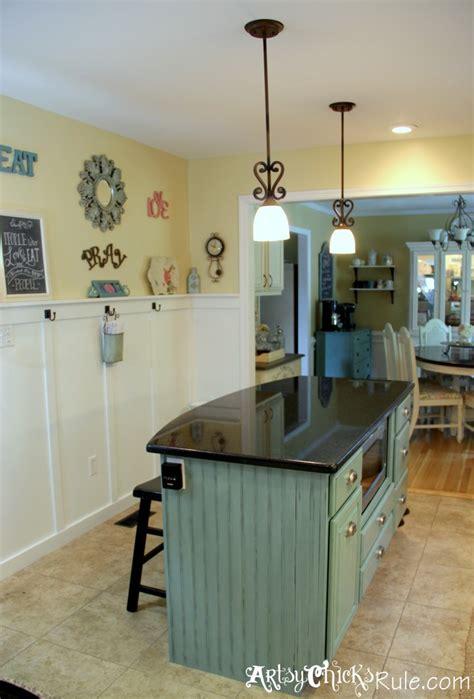 paint kitchen island kitchen island makeover duck egg blue chalk paint artsy rule 174