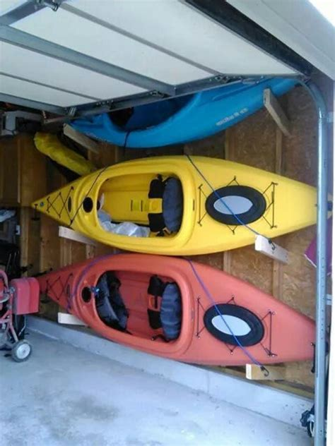 Garage Storage Kayak Kayak Storage Kayaks And Garage On