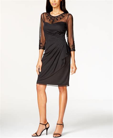 patra beaded dress patra matte chiffon beaded dress in black lyst