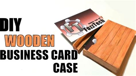 make business card holder how to make a wooden business card holder do it