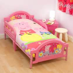 george pig toddler bed set peppa pig bedding bedroom decor duvets wall stickers