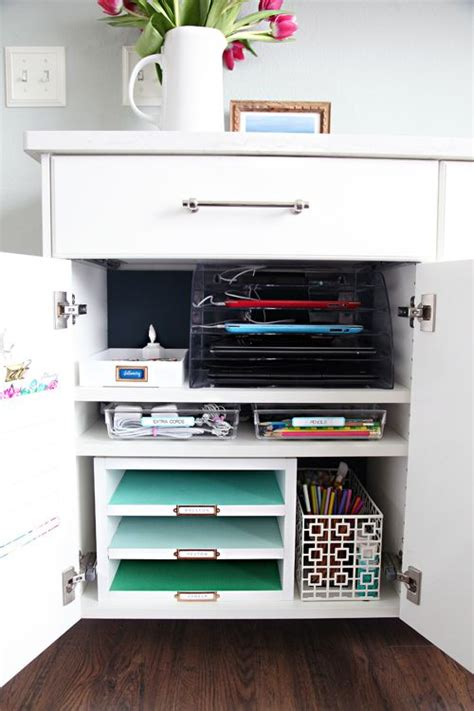 create a charging station create a family charging station cabinet to keep organized