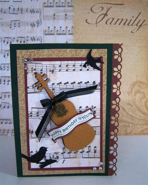 how to make a musical card you to see masculine birthday card by docha