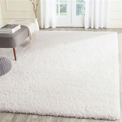 white shag area rug safavieh shag white area rug reviews wayfair