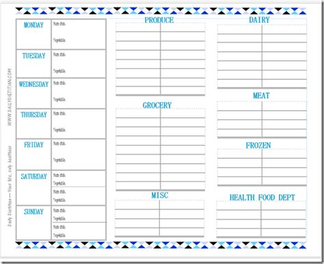 spring cleaning time get organized free grocery list