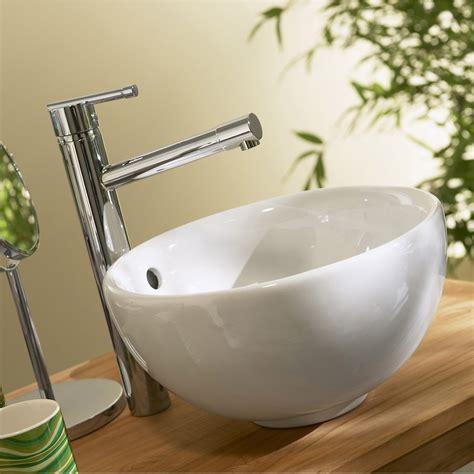 vasque 224 poser c 233 ramique diam 31 cm blanc tibet leroy merlin