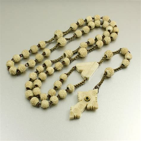 antique rosary antique rosary stanhope cross with lens stanhope rosary carved