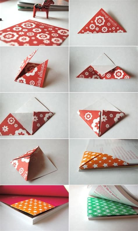 origami bookmark origami triangle bookmark origami corner