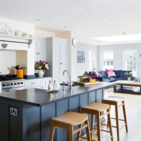 open plan kitchen diner ideas painted open plan kitchen traditional kitchen diner ideas housetohome co uk
