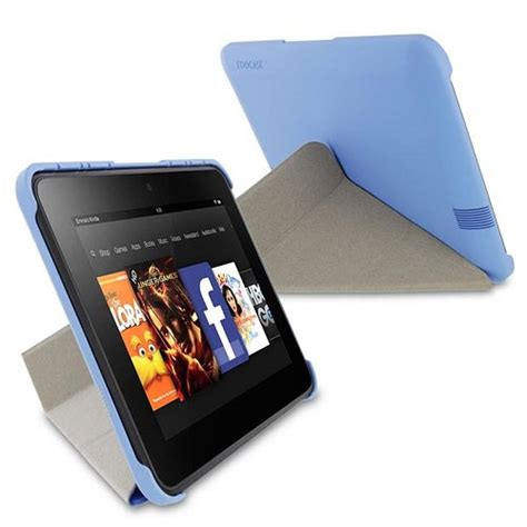 kindle hd origami roocase origami slimshell for kindle hd 7 quot blue