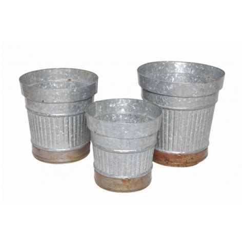 galvanized steel planters galvanized steel planter set of 3 indoor planters