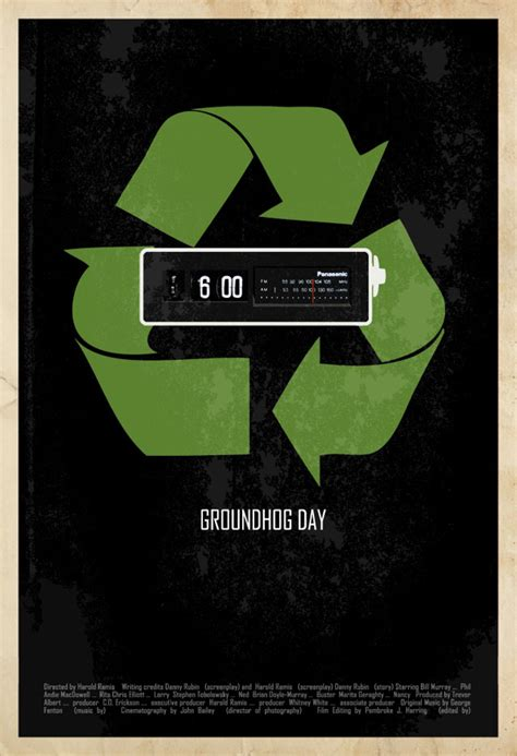 groundhog day poster great collection of minimalist posters