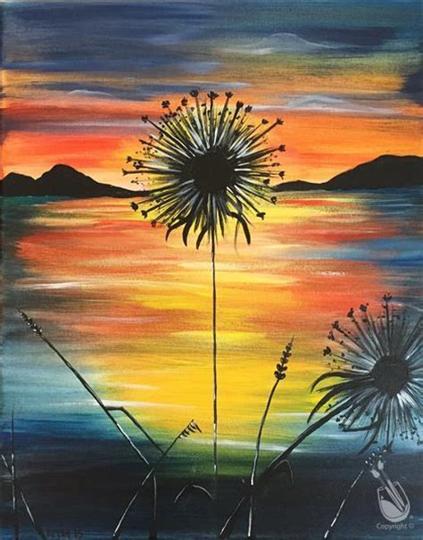 paint with a twist san angelo dandelion sunset tuesday april 18 2017 painting with