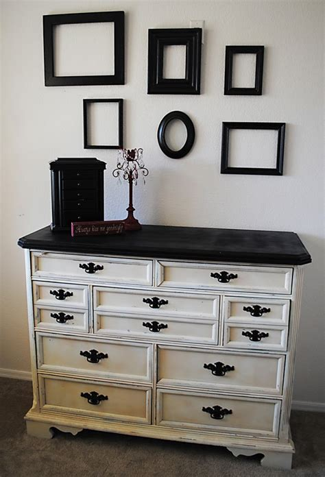 spray painting dresser painting furniture black casual cottage