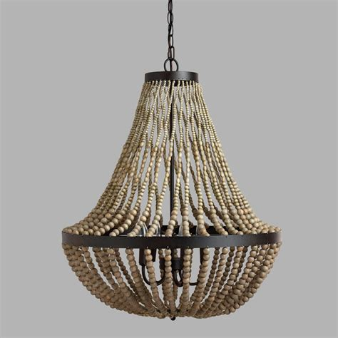 how to make a bead chandelier large wood bead chandelier world market the knownledge