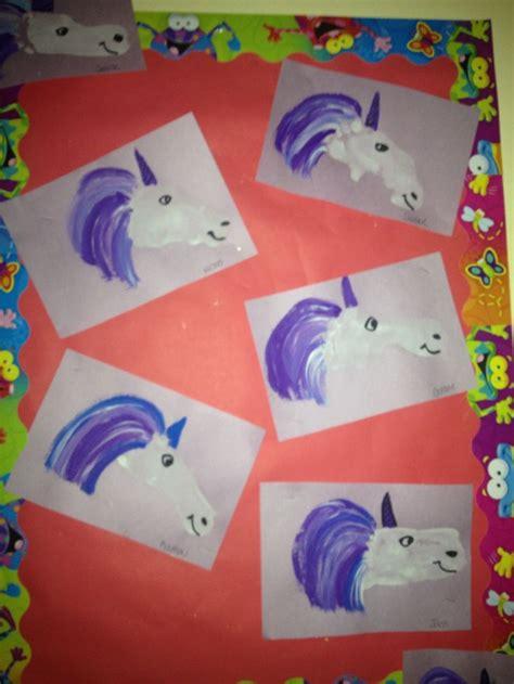 unicorn crafts for unicorn craft footprint unicorns craft ideas