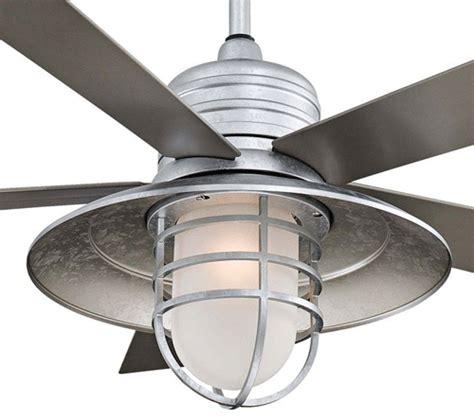 galvanized ceiling fans minka aire 54 inch galvanized rainman ceiling fan