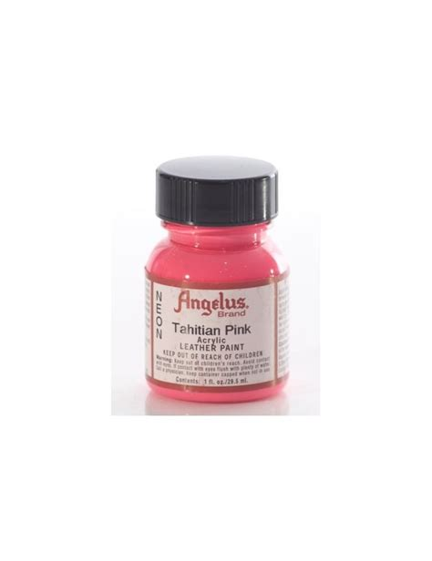 angelus paint timberland angelus dyes paint tahitian pink 1oz leather paint