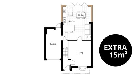 kitchen extension floor plans kitchen extension ben williams home design and