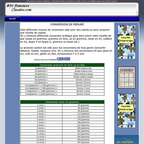 les 25 meilleures id 233 es concernant tableau de conversion gramme sur conversions de