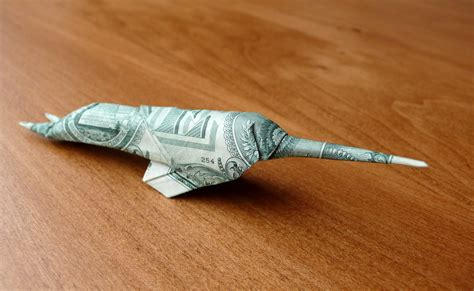 origami narwhal dollar origami narwhal by craigfoldsfives on deviantart