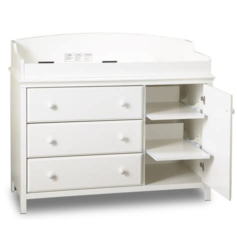 changing table drawer south shore cotton 3 drawer wood changing table in