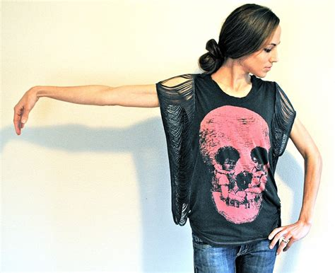 how to make a fringed shirt with trash to couture diy fringe sleeve seam