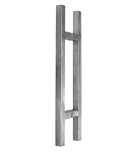handles for glass doors 2 foot modern glass door handles pair satin stainless