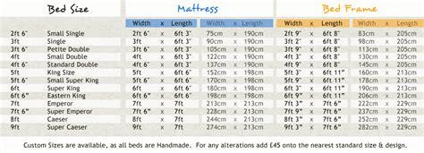 standard size bed frame dimensions wooden bed frame sizes
