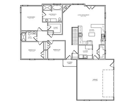 Single Level House Plans midwest ranch house plan single level house plan the