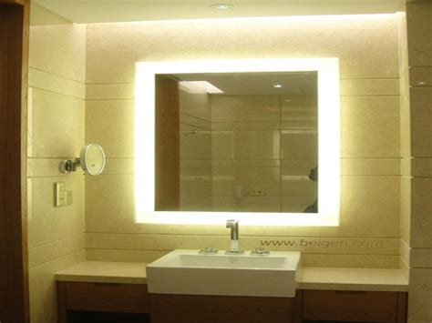 backlit mirrors for bathrooms illuminated vanity mirror backlit vanity mirror lighted
