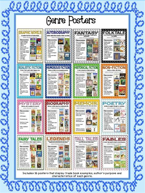 picture book genres best 25 reading genre posters ideas on genre