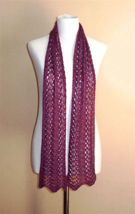 knit scarf pattern lace instant knitting pattern lace fan scarf lace