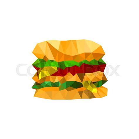 burger origami illustration of origami burger isolated on white