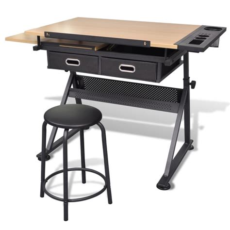where to buy a drafting table tilt drawing drafting table w 2 drawers stool buy