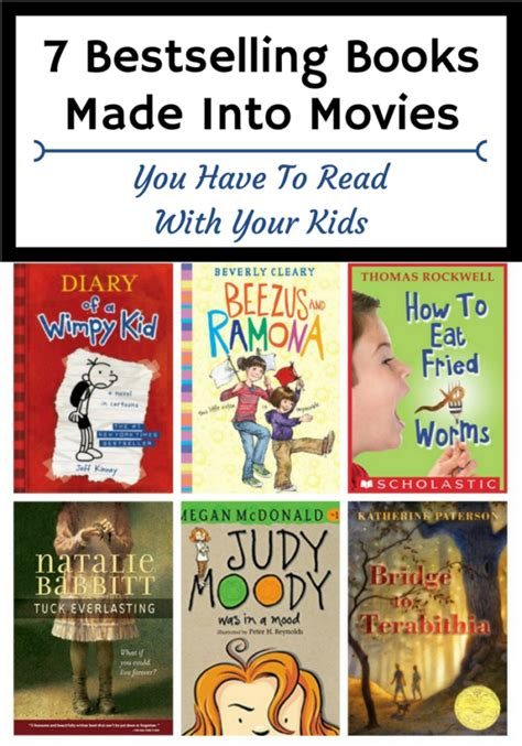 picture books made into 7 bestselling books made into you to read with