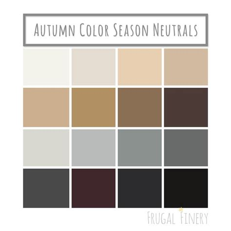 list of neutral colors neutral colors for the autumn color season wardrobe
