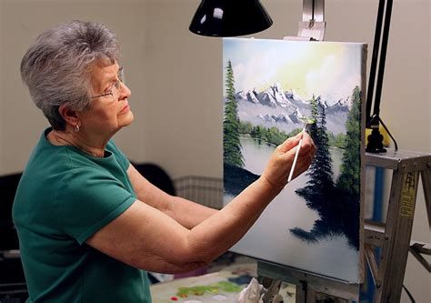 bob ross painting classes at hobby lobby cairo teaches painting class 9 months a year cairo