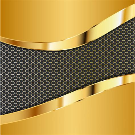 Car Wallpapers Free Psd Files Golden by Honeycomb Pattern And Gold Background Vector Free Vector