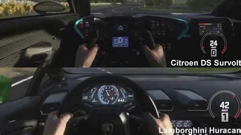 Citroen Survolt For Sale by Citroen Ds Survolt Vs Lamborghini Huracan Drag Race