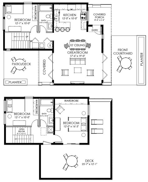 small farmhouse floor plans contemporary small house plan 61custom contemporary modern house plans