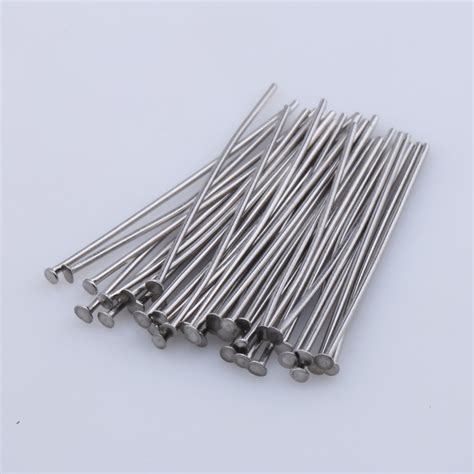 stainless steel findings jewelry 30mm 500pcs fashion stainless steel metal pins