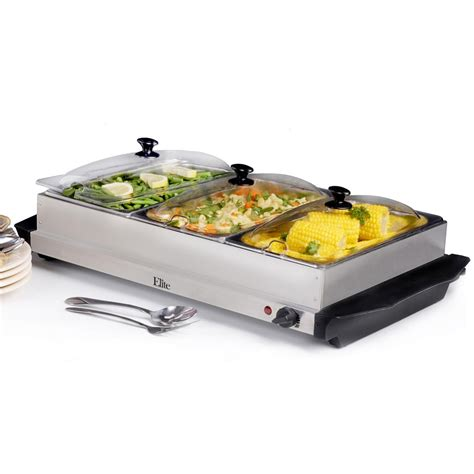 buffet server elite stainless steel buffet server and warming tray
