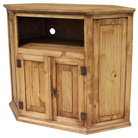 corner television cabinet rustic pine collection corner tv stand com11