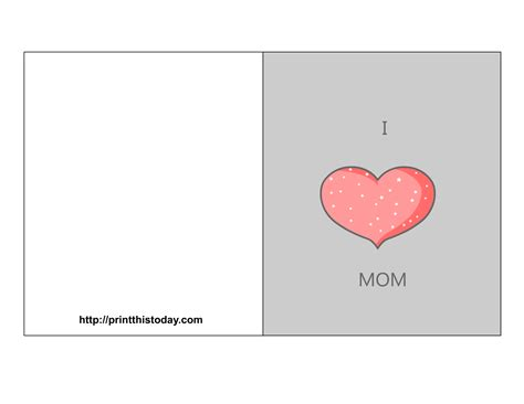 printable mothers day cards for to make free s day cards
