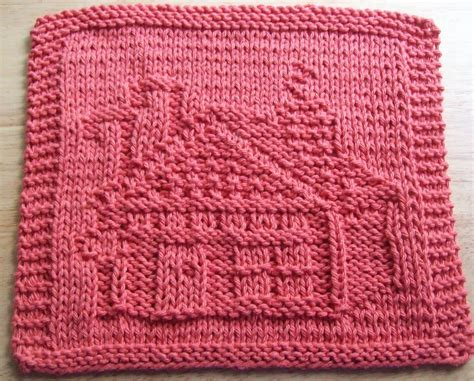 knitted dishcloths patterns digknitty designs gingerbread house knit dishcloth
